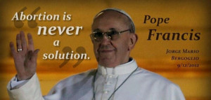 Quote from the new pope. Not that i'm into popes, cause i'm not...BUT ...