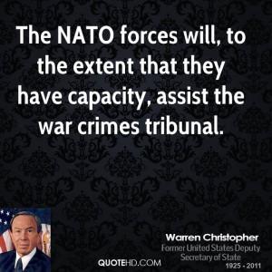 Warren Christopher War Quotes