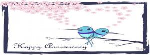 happy anniversary love bird white hd fb cov, happy anniversary quotes ...