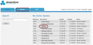 ... sign into the Client Web App they can see and view any active quotes