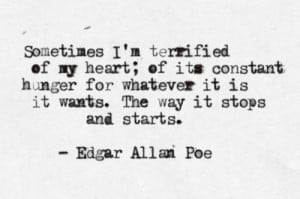 Edgar Allan Poe quote about drive