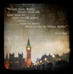 Peter Pan Never Grow Up Quotes