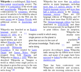 In this example, a pull quote is centered between two columns. The ...