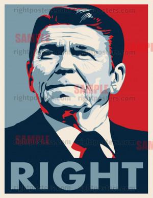 Ronald Reagan Right Poster
