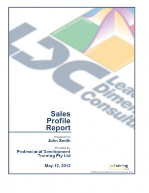 Browse the Sales Profile Report