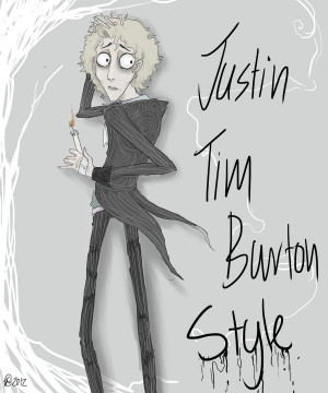 Justin in Tim Burton by Cheshire-Cats-Master