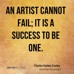 Charles Horton Cooley Success Quotes