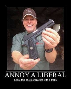 Ted Nugent- I love this guy! :) firearm, stuff, funni, weapon, polit ...