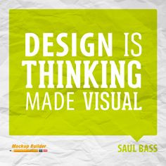 Design is thinking made visual #design #quotes #designquotes More
