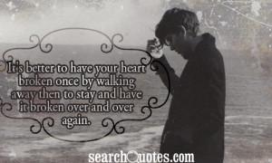 Heartbreak Quotes For Guys Guy heart broken images for