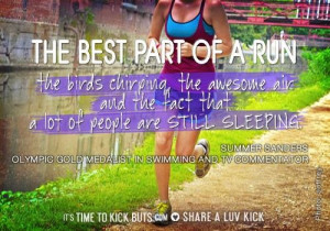 SUMMER SANDERS RUNNING QUOTE
