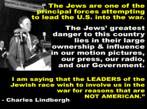Charles Lindbergh quote Jews leading U.S. into WAR