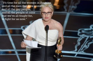 Patricia Arquette 2015 Oscars speech quote