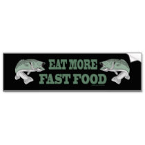 Funny Fishing Eat More fast Food Bass Fish by fishing_hunting_tees