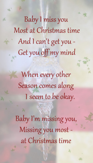 ... Missing You At Christmas Memorial and Quotations, Poems & Verses