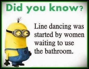Sister: This is why we don't line dance at our dances)