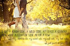 Country Love Songs Quotes For Him