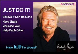 Just Do It - Richard Branson Quote