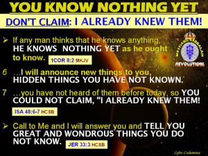 If anyone thinks he knows anything, he does not yet know it as he ...