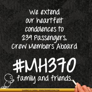 We extend our heartfelt condolences to 239 Passengers, Crew Members ...