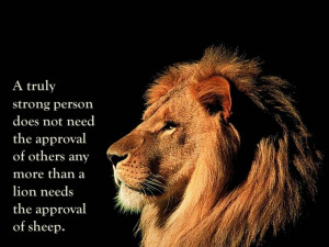 Lion Quotes Strength Vernon howard #quotes