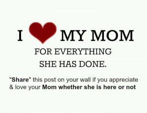 Love My Mom For Everything