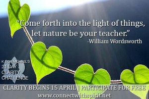 ... the light of things, let nature be your teacher.