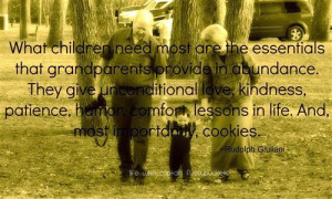 ... Grandparents hold their kid's hand and what children need most quotes