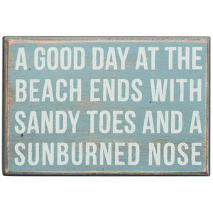 Good Day at the beach sign.