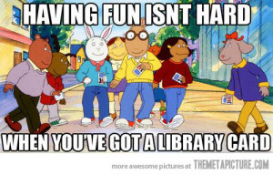 Funny photos funny Arthur cartoon library card