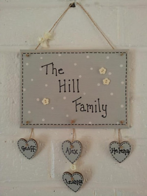 Shabby Chic family quote plaques by MeggyMoosLittleGemms on Etsy, £8 ...