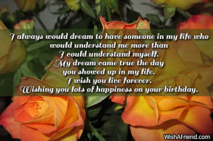My Birthday Message For Myself My dream came true the day you
