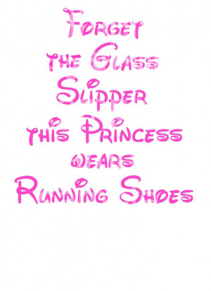 ... The glass slipper this princess wears running shoes $2.00, via Etsy