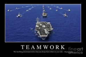Teamwork Inspirational Quote Photograph
