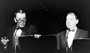 Frank Sinatra (left) with Joe E. Lewis (right)
