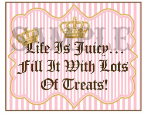Quote Sign for Juicy Couture