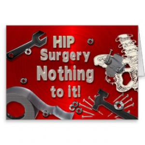 HIP SURGERY GET WELL CARD - DUCT TAPE