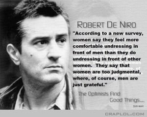 Robert De Niro…says!