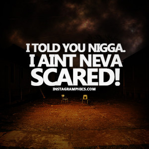 Aint Never Scared Quote Graphic