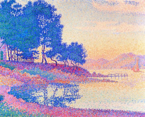 ... Cove in Saint-Tropez (Paul Signac - ) #art #postimpressionism #Signac