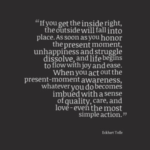 Eckhart Tolle Quote – Present Moment Awareness