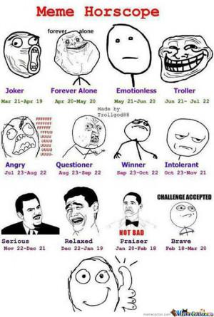Meme Zodiac Signs