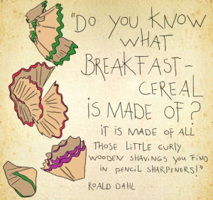 illustration by Celine Schroeder, quote by Roald Dahl