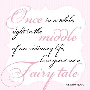 fairytale wedding invitation quote