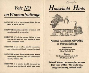 Vote No on Women's Suffrage': Bizarre Reasons For Not Letting Women ...