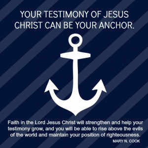 Anchor Quotes About Family Faith in jesus christ quote