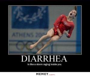 funny gymnast diarrhea pooping