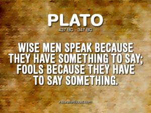 Plato Talking Quotes