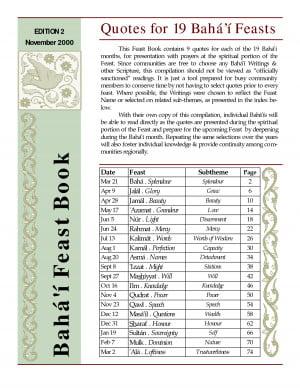 Quotes for 19 Bahá'í Feasts