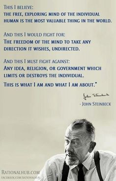To be able to write like Steinbeck, with his clarity, force and simple ...
